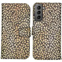 iMoshion Design Custodia a Libro Morbida Samsung Galaxy S21 - Allover de luxe