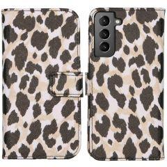iMoshion Design Custodia a Libro Morbida Samsung Galaxy S21 - Golden Leopard