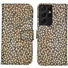 iMoshion Design Custodia a Libro Morbida Samsung Galaxy S21 Ultra - Allover de luxe