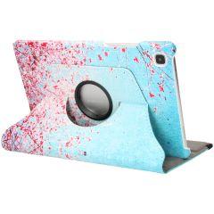 iMoshion Custodia a Libro Design Girevole a 360° Galaxy Tab A7 - Pink Blossom