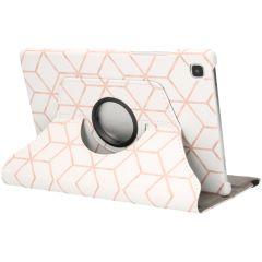 iMoshion Custodia a Libro Design Girevole a 360° Galaxy Tab A7 - Cubes Rose Gold