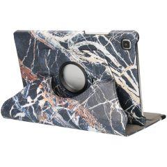 iMoshion Custodia a Libro Design Girevole a 360° Galaxy Tab A7 - Black Marble