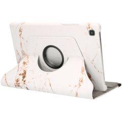 iMoshion Custodia a Libro Design Girevole a 360° Galaxy Tab A7 - White Marble