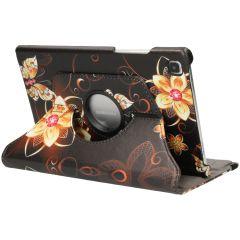 iMoshion Custodia a Libro Design Girevole a 360° Galaxy Tab A7 - Butterfly Flower