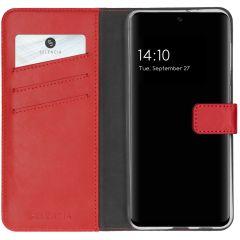 Selencia Custodia Portafoglio in Vera Pelle Samsung Galaxy A32 (5G) - Rosso