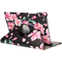 iMoshion Custodia a Libro Design Girevole a 360° Galaxy Tab A7 - Blossom Watercolor Black