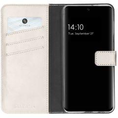 Selencia Custodia Portafoglio in Vera Pelle Samsung Galaxy A32 (5G) - Grigio