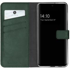 Selencia Custodia Portafoglio in Vera Pelle Samsung Galaxy A32 (5G) - Verde