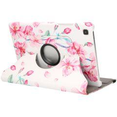 iMoshion Custodia a Libro Design Girevole a 360° Galaxy Tab A7 - Blossom Watercolor White