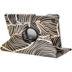 iMoshion Custodia a Libro Design Girevole a 360° Galaxy Tab A7 - Golden Leaves