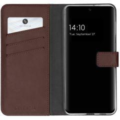 Selencia Custodia Portafoglio in Vera Pelle Samsung Galaxy A32 (5G) - Marrone scuro