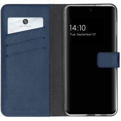 Selencia Custodia Portafoglio in Vera Pelle Samsung Galaxy A32 (5G) - Blu scuro