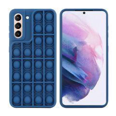 iMoshion Cover Pop It Fidget Toy Samsung Galaxy S21 - Blu scuro