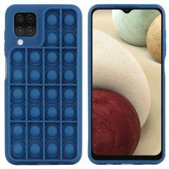 iMoshion Cover Pop It Fidget Toy Samsung Galaxy A12 - Blu scuro