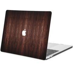 iMoshion Cover per Laptop Design MacBook Pro 13 inch  (2016-2019) - Dark Brown Wood