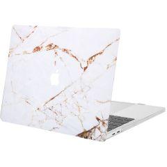iMoshion Cover per Laptop Design MacBook Pro 15 inch (2016-2019) - White Marble