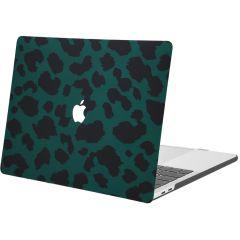 iMoshion Cover per Laptop Design MacBook Pro 15 inch (2016-2019) - Green Leopard