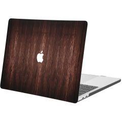 iMoshion Cover per Laptop Design MacBook Pro 15 inch (2016-2019) - Dark Brown Wood