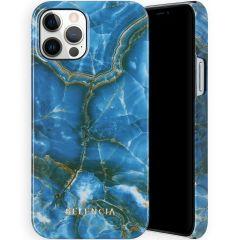 Selencia Maya Cover Fashion iPhone 12 (Pro) - Onyx Blue