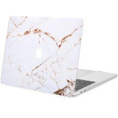 iMoshion Cover per Laptop Design MacBook Pro 13 inch  (2016-2019) - White Marble