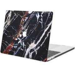 iMoshion Cover per Laptop Design MacBook Pro 13 inch  (2016-2019) - Black Marble