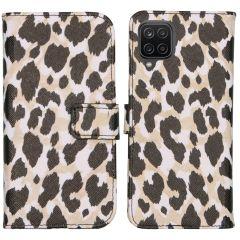 iMoshion Design Custodia a Libro Morbida Samsung Galaxy A12 - Golden Leopard
