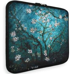 iMoshion Design Sleeve Universale 15 inch -  Tree White Flowers