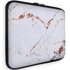 iMoshion Design Sleeve Universale 15 inch -  White Marble