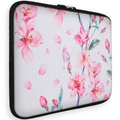 iMoshion Design Sleeve Universale 15 inch -  Blossom Watercolor White