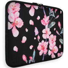 iMoshion Design Sleeve Universale 15 inch -  Blossom Watercolor Black