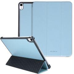 Selencia Nuria Custodia a Libro Trifold in Pelle Vegana iPad Air (2020) - Blu