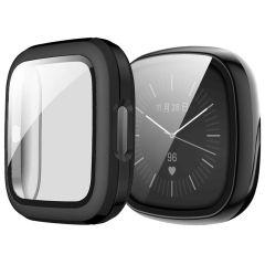 iMoshion Custodia Rigida + Pellicola Protettiva Fitbit Versa 3 - Nero