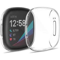 iMoshion Custodia Flessibile + Pellicola Protettiva Fitbit Versa 3 - Trasparente