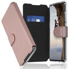 Accezz Xtreme Custodia Portafoglio Samsung Galaxy S21 FE - Rosa oro