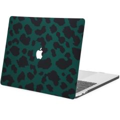 iMoshion Cover per Laptop Design MacBook Pro 13 inch  (2016-2019) - Green Leopard