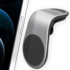 Accezz Porta cellulare magnetico auto - Griglia di ventilazione - Argento